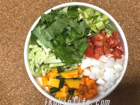 最強の野菜スープの材料です。
